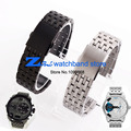 Stainless steel Watchband Double click buckle black silver width 24mm 26mm 28mm 30mm metal wristwatches band