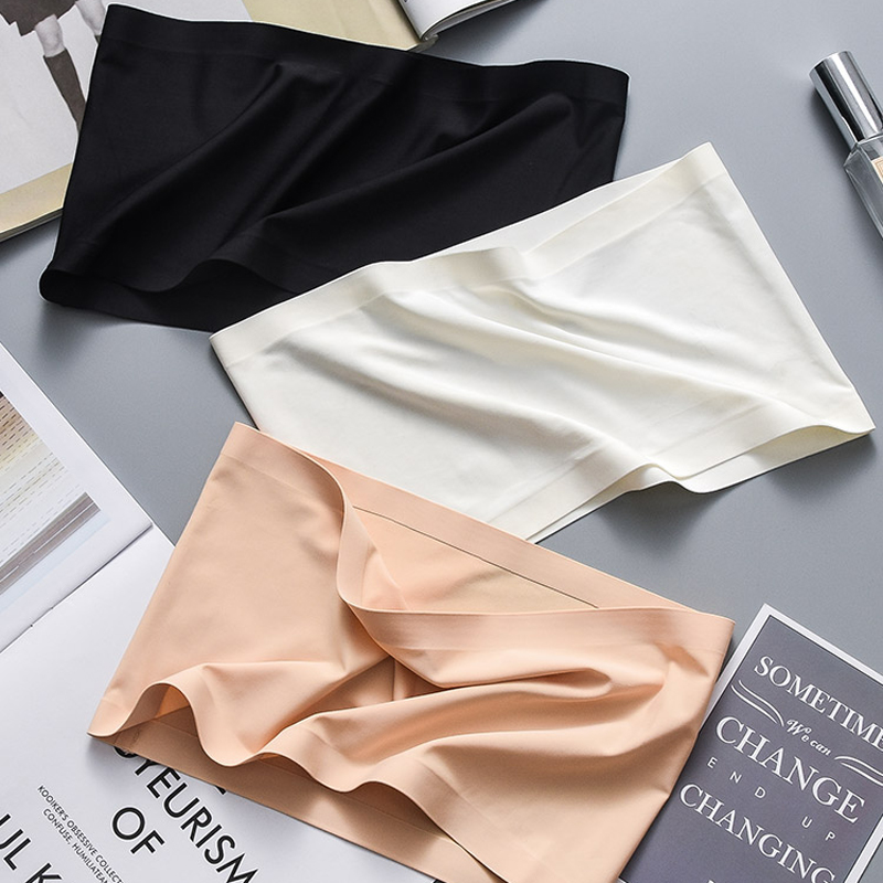 Summer Women Modal Bandeau Top Solid Breathable Strapless Bra Bandeau Soft Seamless Women Casual Tank Crop Tops