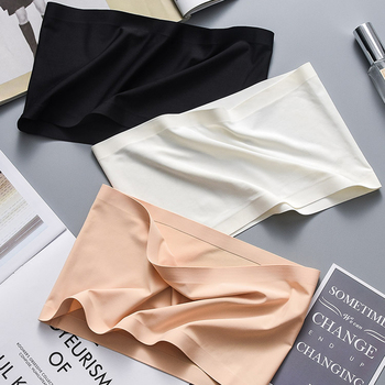 Summer Women Modal Bandeau Top Solid Breathable Strapless Bra Bandeau Soft Seamless Women Casual Tank Crop Tops фото