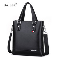 BAILLR Brand New Arrival Vertical Tote Briefcases Shoulder Handbag Tote Bag Top Handle Casual Pu Leather