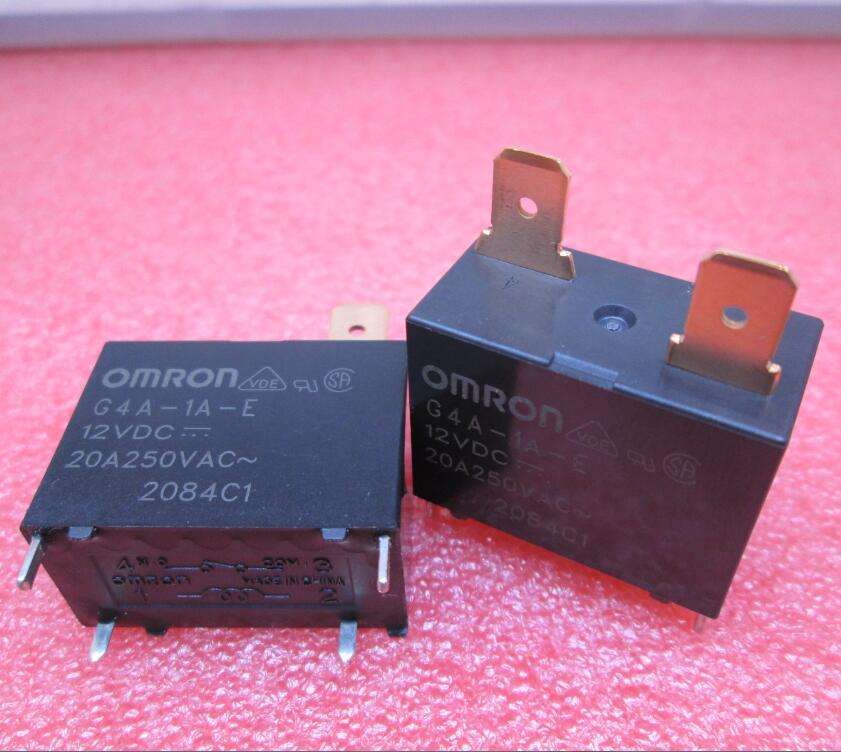 HOT NEW relay G4A-1A-E-12VDC G4A-1A-E 12VDC G4A-1A G4A1AE 12VDC 12V DC12V 20A 250VAC 4PIN 2pcs omron power relay g5nb 1a e 5vdc g5nb 1a e 12vdc g5nb 1a e 24vdc g5nb 1a e 5v 12v 24vdc 5a 4pins a group of normally open