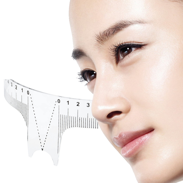 New Arrival Eyebrow Grooming Stencil Shaper Ruler Measure Tool Makeup Reusable Eyebrow Ruler Tool Measures # 3