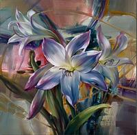 Free Shipping Realistic Flowers Oil Painting Applys to Hotel Study Living Room Cafe Wine Bar Wall Painting in Abstract Style