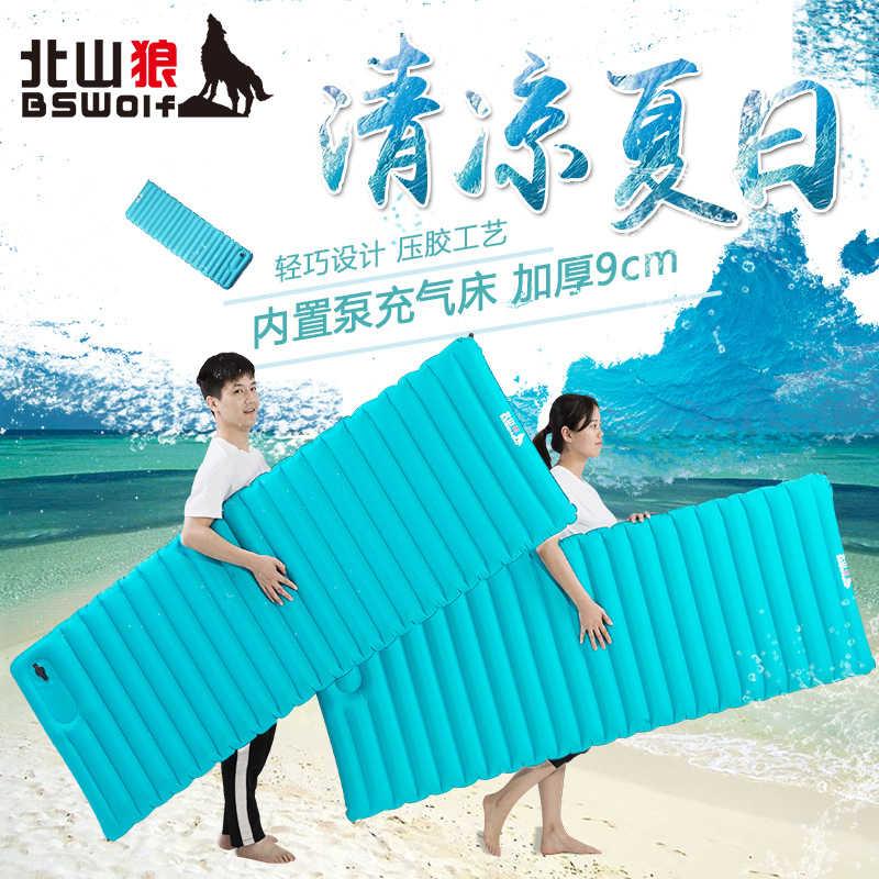 BSwolf одна воздушная подушка внутренняя надувная кровать один супер легкий зарядный насос утолщение открытый два размера воздушный коврик