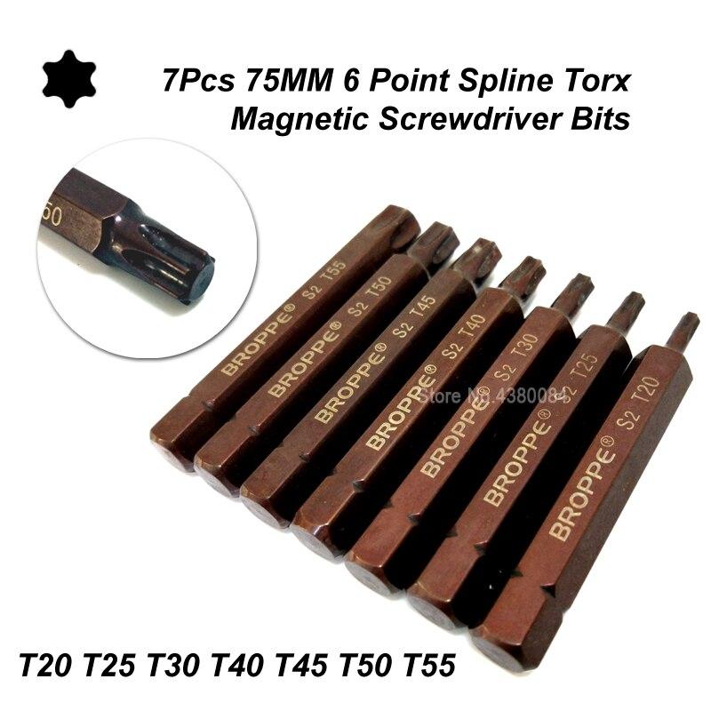 T45 TORX BIT 6 Point Socket 10mm Hex Drive 75mm long