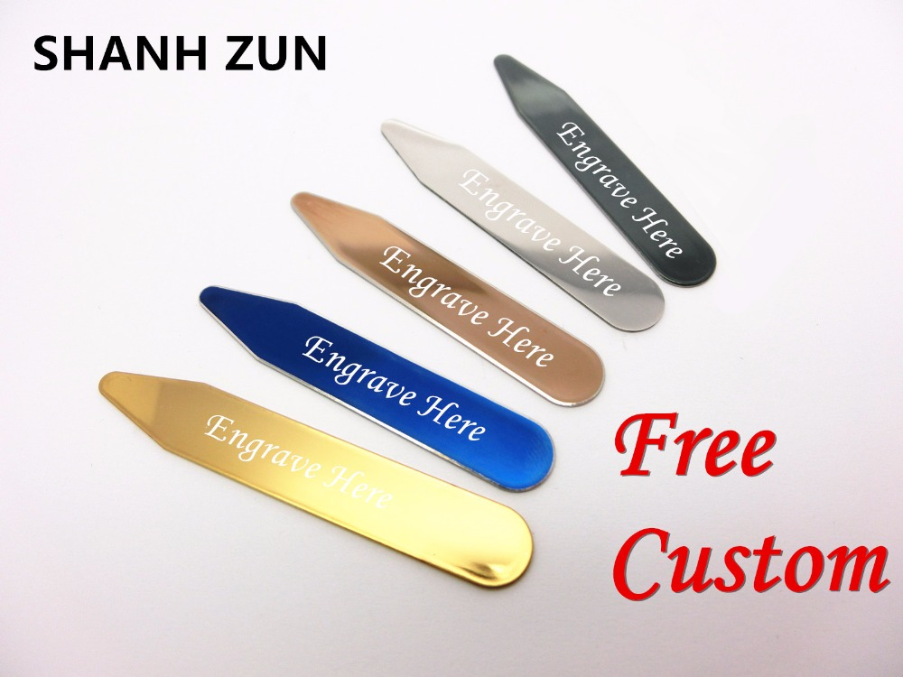 Customized Stainless Steel Collar Stays Bone Stiffeners For Shirt Lot
