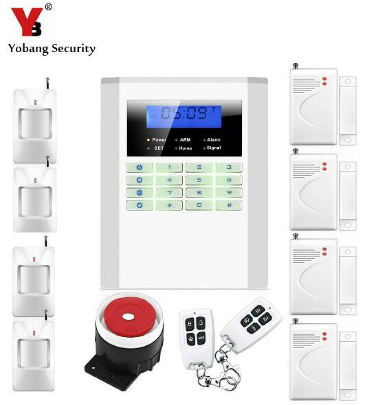 Yobang Security GSM/PSTN Alarm System Intruder Burglar Security for home/hotel Wireless alarm with 99 Wireless zones kerui new 900 1800 1900mhz wireless gsm pstn burglar security alarm system for home house garden store shop office