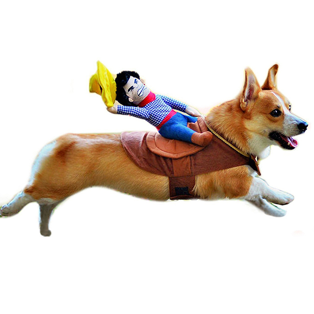 Pet Anjing Kuda Kuda Pengendara Koboi Koboi Kostum Halloween Kostum Lucu Anjing anjing Pakaian Anjing Halloween Party Pakaian S-XL
