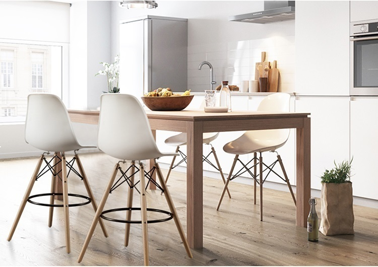coffee house chair office meeting room stool white green color seat public house plastic PP backrest seat
