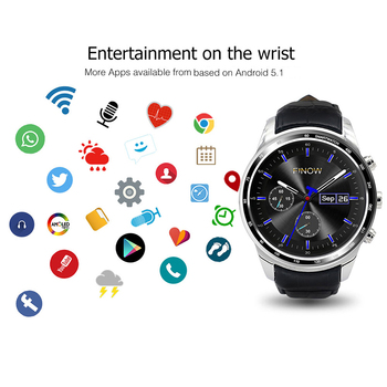 Fashion Best Business Gift 3G Smart watch 1.3'' Android 5.1 Quad Core Camera Bluetooth GPS Mens Smart Watch Phone For Android