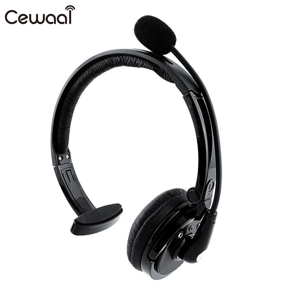 Cewaal Over Head Boom Mic Bluetooth 2.1 V2.1 Headset For Drivers CSR Head free Headset Earphone Music Headphone Gift