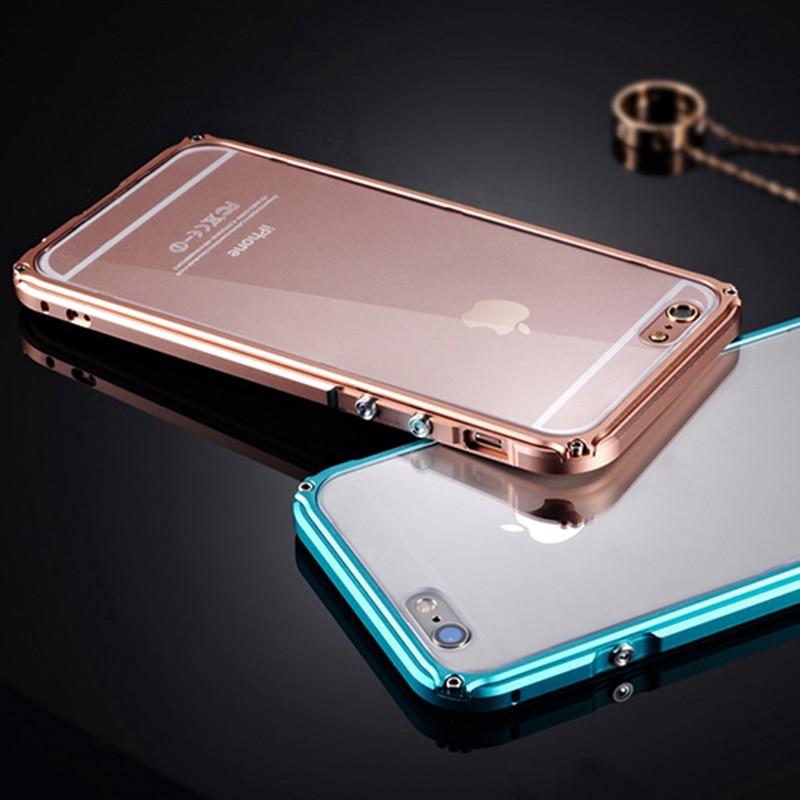 Cubierta de parachoques de metal para iPhone 6 Funda de aluminio para - Accesorios y repuestos para celulares - foto 6