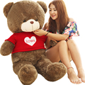 Большие Мягкие игрушки Kawaii Teddy Bear 60 СМ Медведя Плюшевые Подушки Большой чучела Животных 100% Хлопок PP Подарок На День Рождения для Девочек Свадебный Подарок