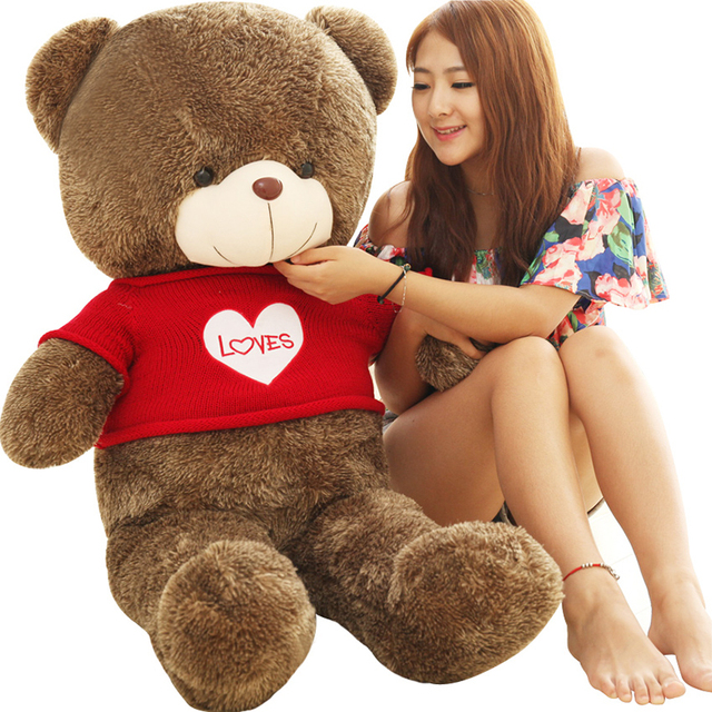 Large Soft Toys Kawaii Teddy Bear 60CM Bear Plush Pillow Big Stuffed  Animals 100% PP