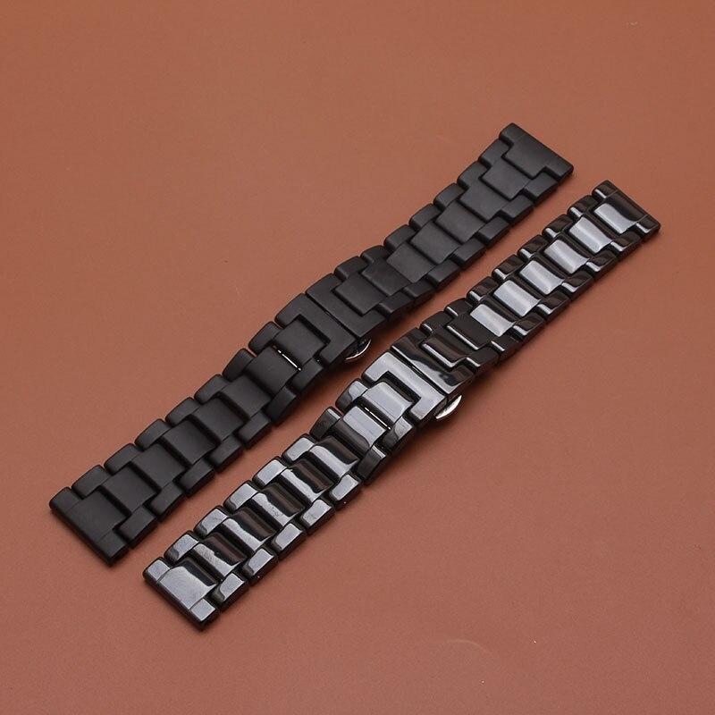 Matte Sort Armbåndsur av keramiske eller polerte klokker for smarte - Tilbehør klokker - Bilde 6