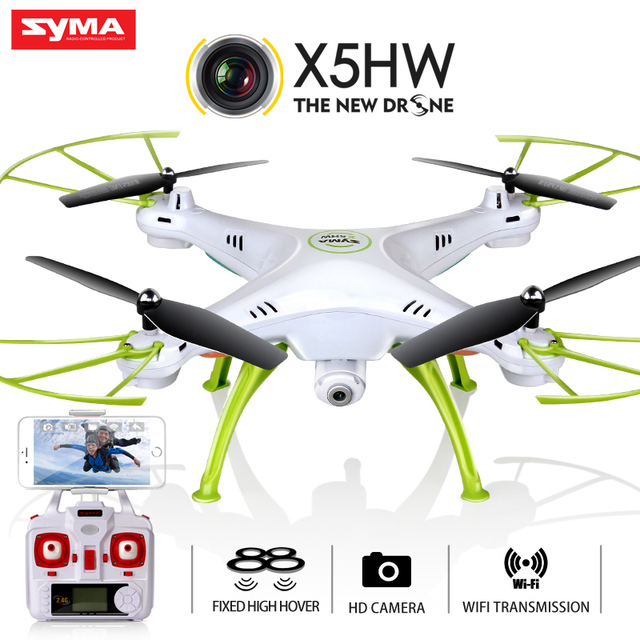 Hot Kvadrokopter SYMA X5HW FPV RC Quadcopter Drone with Camera hd WIFI FPV dron X5SW Upgrade RC Helicopter Hover Function RC Qua