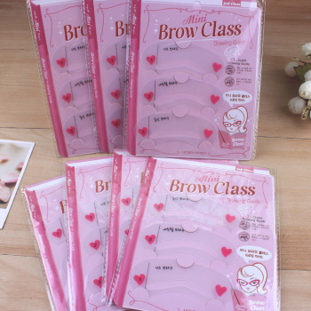 24pcs/lot Mini Brow Class Eyebrow Stencils  Reusable Eyebrow Drawing Guide Card Brow Template (3PCS/PACK, 8 PACKS/LOT)