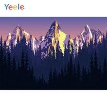 Yeele Landscape Mount Fprest Sunset Room Paint Decor Photography Backdrop Personalized Photographic Backgrounds For Photo Studio