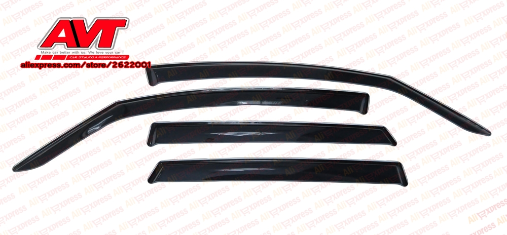 Déflecteurs d'air pour Kia Venga 2010-1set \ 4 pcs style vent fenêtre déflecteur garde automatique déflecteur pluie gardes couverture