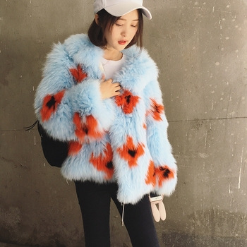 2016 New Arrival 100% Natural Fox Fur Knitted Coat With Hood,Women's Real Fox Fur Outerwear Hooded BE-1663 EMS Free Shipping 2