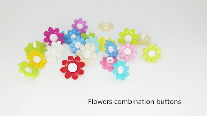 100pcs sewing accessories flower CARTOON BUTTON used for jewelry, clothing, decrative accessories or other handcraft DIY.