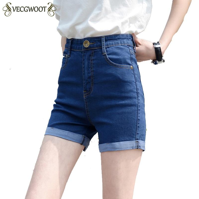 Women's Shorts Vintage Female High-Waist Plus-Size Summer Lady New Thin QA141 Cuffs