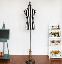 wholesale Female flexible adjustable-mannequin for cloth,Half grid zebra stripe decorative realist animal body mannequin M00606 realist interviewing