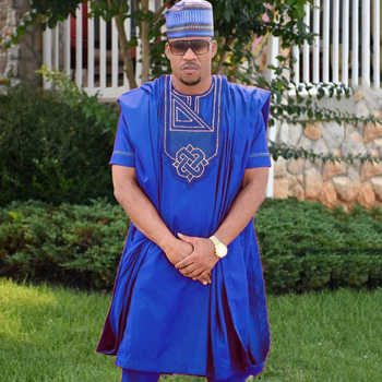 african men clothes dashiki suits tops pant suit 3 pieces set africa mens clothing  africain no cap - DISCOUNT ITEM  43% OFF All Category