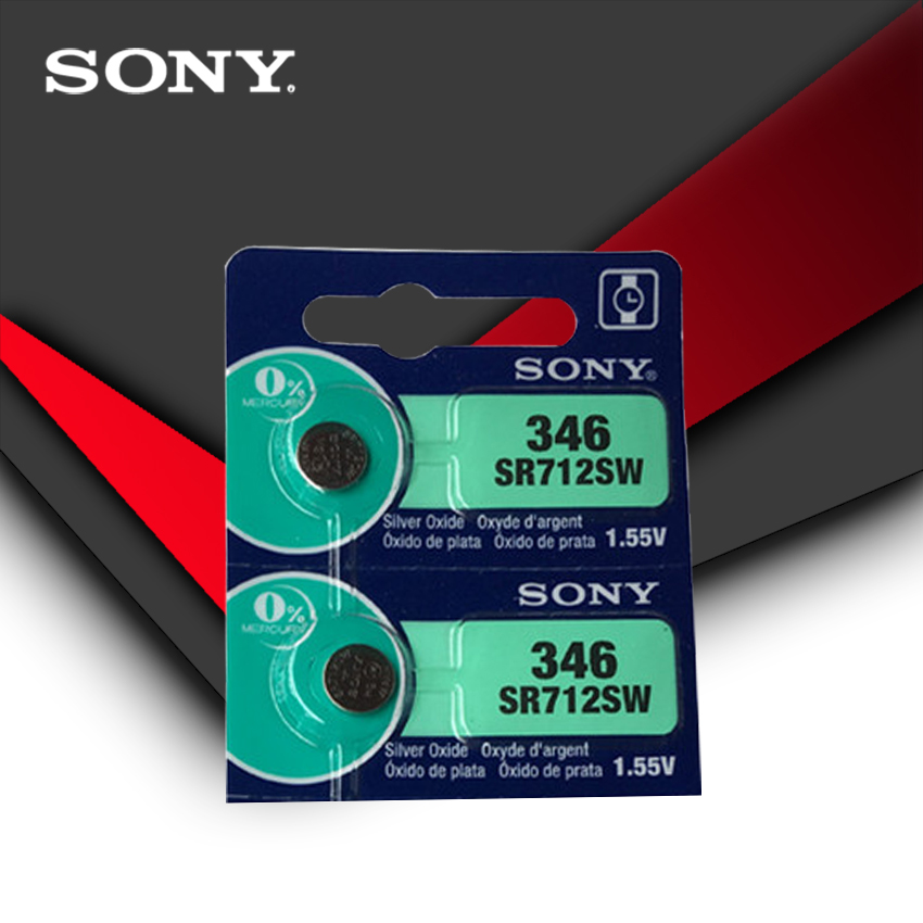 2pc Sony 100% Original 346 SR712SW 1.55V Silver Oxide Button Cell Coin Battery MADE IN JAPAN