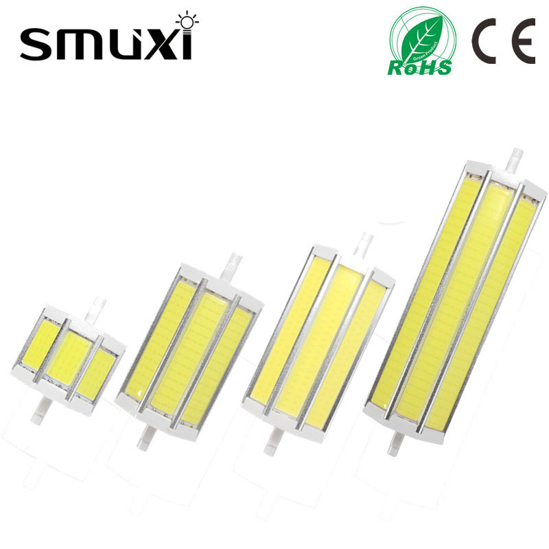 Smuxi Dimmable R7S COB SMD LED Floodlight Spot Corn Light Bulb Lamp 10/15/20/25W Pure Warm White 78/118/135/189mm AC85-265V 680lm mr16 7w cob warm white led spot bulb energy saving light 85 265v