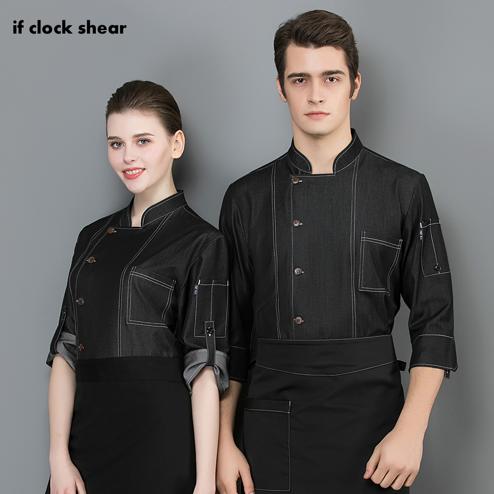 Food Service Breathable Cooker Shirt Long Sleeved Restaurant Hotel Kitchen Chef Uniform Chef Jacket Work Clothes Men And Women