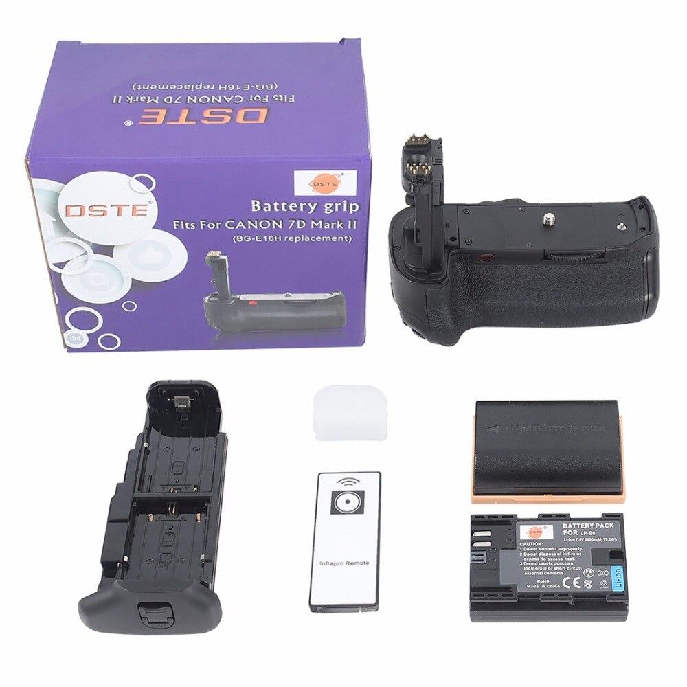 ФОТО DSTE BG-E16H Battery Grip + 2x LP-E6 Battery For Canon 7D MARK II SLR Camera