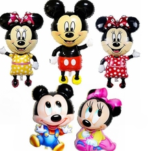 Giant Bowknot Mickey Minnie Mouse Balloons Cartoon Foil Birthday Party Supplies Decoration Balloon Kids Baby boy girl Toys Big