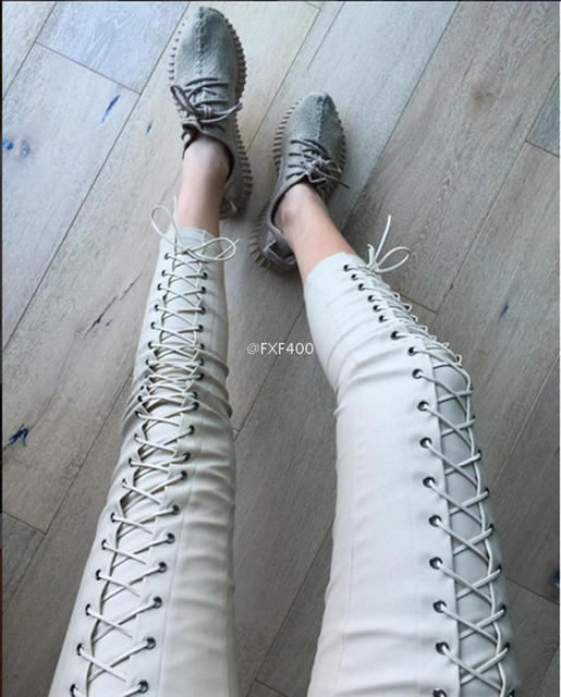 Pantalones Mujer Real 2016 Fashion Pants European And American Bloggers With The Paragraph Cross Straps Tight Feet Pu Leather