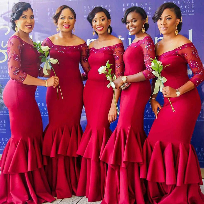 African bridesmaids dresses images