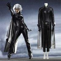 Фильм X Для мужчин Апокалипсис шторм Ororo Манро Косплэй костюм на Хэллоуин наряд черный кожаный костюм на Хэллоуин костюм для Для женщин