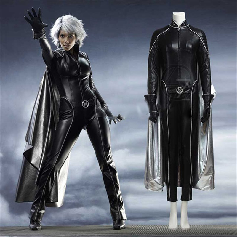 Us 156 05 49 Off Movie X Men Apocalypse Storm Ororo Munroe Cosplay Costume Halloween Outfit Black Leather Suit Halloween Costume For Women In Movie