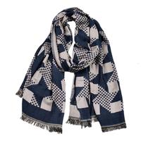 Guttavalli Men British Trend Long Cotton Wrap New Simple Chevron Scarf Leisue Plaids Geometric Soft Skinny Striped Shawl