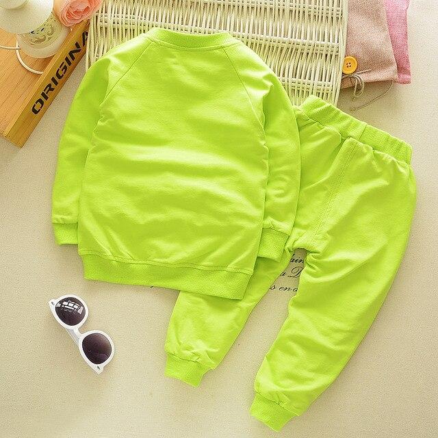 Spring Autumn Children Boys Girsls Clothing Cotton Long Sleeve Letter Sets Kids Clothes Tracksuit Baby T-Shirt Pants 2 Pcs/Suit 5