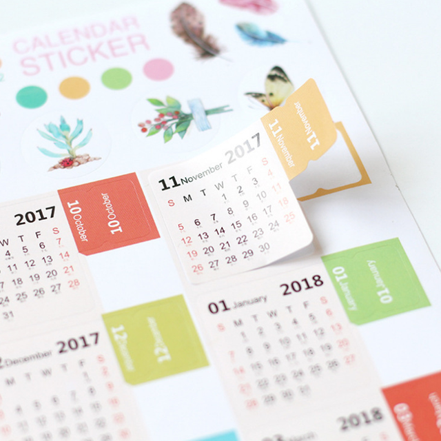 2pcs Pack Calendar 2018 2019 Mini Korean Stationery Decorative