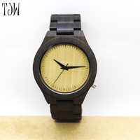 Casual Handmade Nature Wood Bamboo Creative Men Women Full Wooden Band Strap Analog Wrist Watch Festival