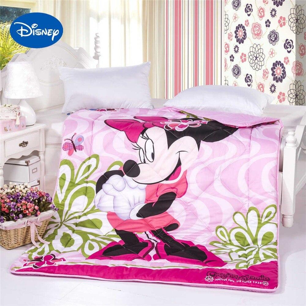 Caráter bonito Dos Desenhos Animados Da Disney Minnie Mouse Edredons  Colchas de Cama Capa de Algodão da menina Único Gêmeo Completa Queen Size  Rosa 1d875185ac