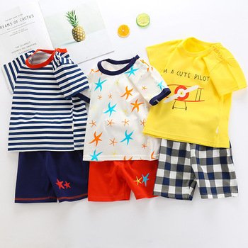 Baby Boys Clothing Sets Children Clothes Cartoon Short Sleeve T Shirt Striped Shorts Suit Tops Pants Sports Suit Kids Tracksuit hoodie