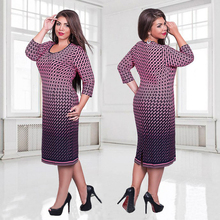 Elegant Autumn Winter women dress large sizes Women loose long plus size Three Quarter casual dress L 6XL