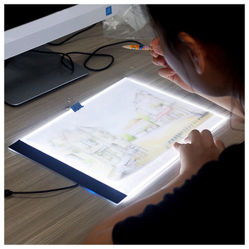 GLymg Light Box 3.5mm A4 LED Light Tablet Pad USB Powered Portable Dimmable Brightness Diamond Painting Cross Stitch Tools