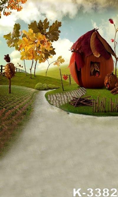 New 5x7ft Outdoor Digital Background Backdrops Green Grasses Autumn font b Photo b font Backdrops Vinyl