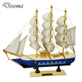 24cm Sailing Model Ornaments Mediterranean Boat Decoration Educational Toys Handmade Wood Solid Wood Ship Model Smooth Sailing