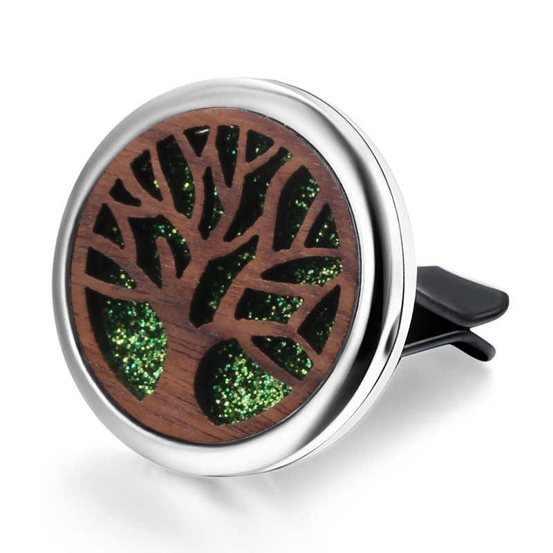 Tree of Life Detachable wood Car Diffuser Freshener Perfume Essential Oil Diffuser Aromatherapy Car clip Locket Send mat