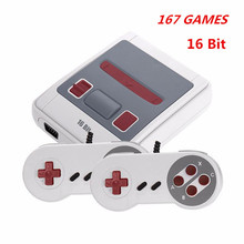 New 16 Bit Game Console  Mini AV Output Built-in 167 Retro Classic Games TV Game Console Double Handheld Controllers Video Game