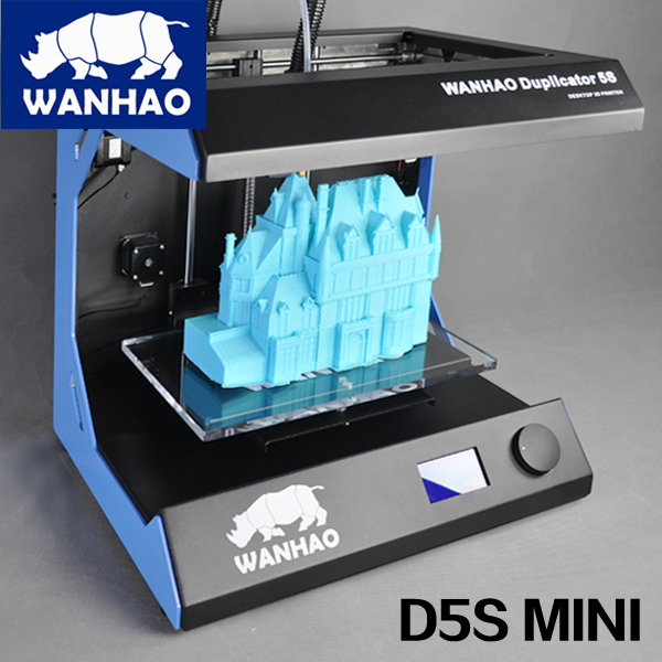 China Supplier Wanhao D5S MiNi 3D Color laser Printer machine with PLA ABS filament cheap factory price high quality